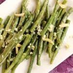 green bean garlic olive oil herbs